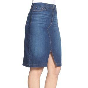 NYDJ Emma Stretch Denim Pencil Mini Skirt